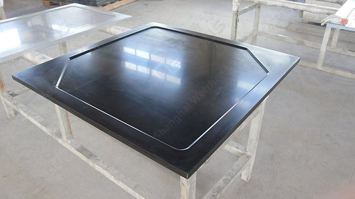 Resist Heat Epoxy Resin Laboratory Worktops , Black Glare Surfaces