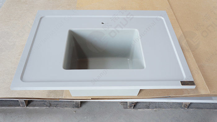 Epoxy Resin Laboratory Basin Station Corner Countertop With Moisture proof And Non distortion